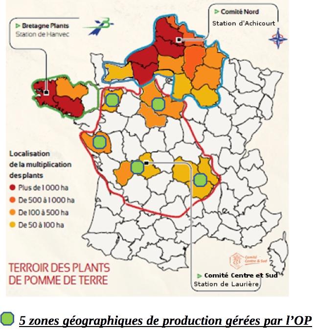 5 zones géographiques de production